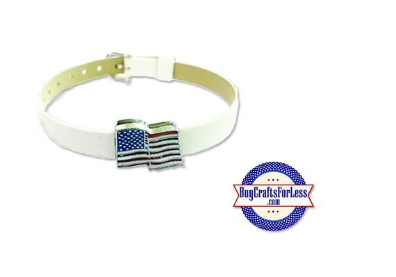 USA Flags for 8mm Slider Bracelet, Collars, Key Rings +FREE Shipping & Discounts*