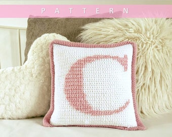 Pattern Monogram Initial Crochet Baby Afghan With 26 Letter