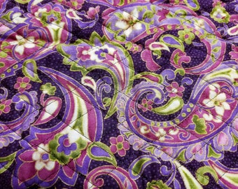 Purple Paisley Quilted Fabric