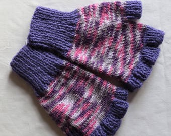 Gloves Fingerless Mittens Hand Knitted