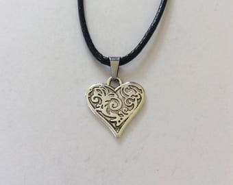 Heart Necklace / Heart Jewellery / Heart Gift / Valentineu0027s Day Gift / Valentines  Necklace /