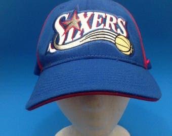 Vintage Philadelphia 76ers Fitted Hat Sz XL