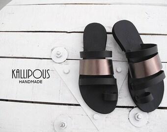 Atsali leather sandals