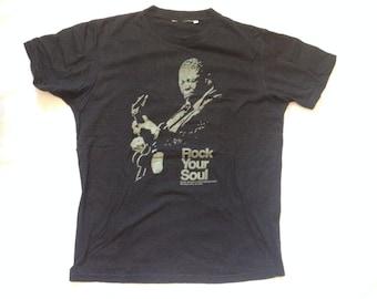 BB King Blues | Rock Your Soul | T-Shirt Black Sz Medium | B.B. King | Blues Rock T- Shirt