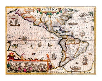 Antique  geographical map of America, old map, vintage map, ancient geographical, ancient america, instant download, image download