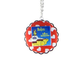 YELLOW SUBMARINE CIRCLE NECKLACE