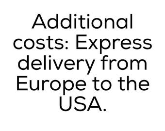 Additional costs: Express delivery from Europe to the USA.