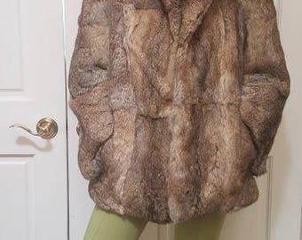 Brown Rabbit Fur coat