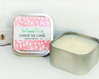 Unscented Soy Candle, Unscented Candle, Natural Candles, Natural Soy Candle, Candles, Soy Candle, Soy Wax Candle, Soy Wax, Candle gift,