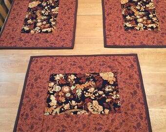 Quilted Fall Placemat Set of 4