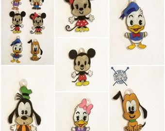 Mickey and friends stitch markers