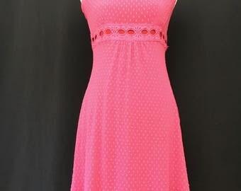 90's Betsey Johnson Pink Netted Mini Dress