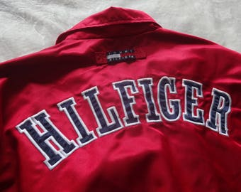 Tommy Hilfiger XL vintage satin,lined coach jacket