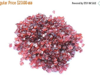 On Sale 50 Carats Natural Earth Mined Red Garnet Rough Rough For Beads Size 4 - 6 MM