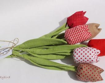 Fabric tulip for teacher gift, anniversary or summer home decor