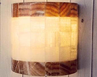 Wall lamp in onyx