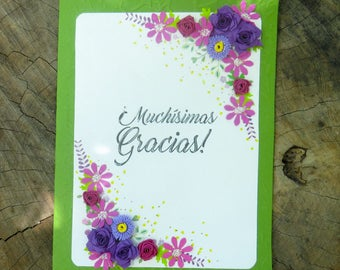 Thank you card | Floral | Greetings | thanks