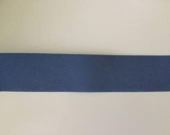 Blue elastic 6 cm width color ribbon