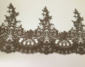 Metallic Brown wire lace with Rhinestone Crystal 30 cm in breadth
