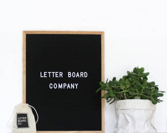 "Pre-Order 16x20"" Chatterbox Letter Board - Oak Frame Letter Board with Black Felt - Messanger Board - Felt Board with 290 Letter Set"