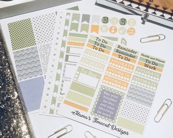 St. Patricks Day theme inspired Weekly Sticker kit for Erin Condren and Recollection Planners