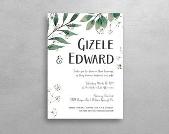 Nature Lovers Wedding Invitation & RSVP - Simple Suite - Deposit Listing
