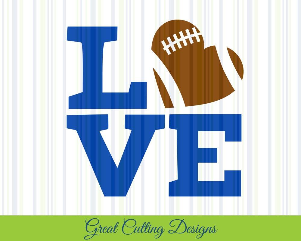 Download football SVG Cut File love football svg DXF cut file Cricut