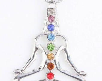 Chakra Healing Necklace, 7 Chakra Healing Pendant, Reiki, Yoga