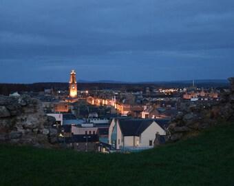 Elgin at Night (Elgin, Moray, Scotland)