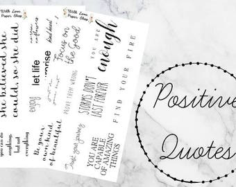 Positive Quote Stickers // Functional Planner Stickers