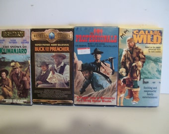 4 classic westerns vhs tapes