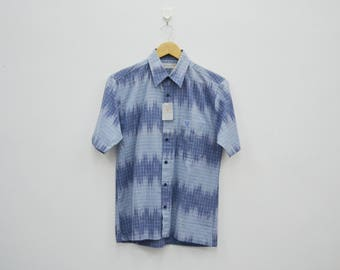 LYLE & SCOTT Vintage 90s Lyle And Scott Collection Button Down Short Sleeve Shirt Size S