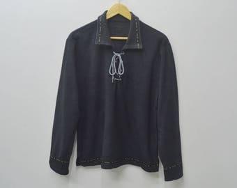 KARL HELMUT Shirt Vintage Karl Helmut Blouse Karl Helmut Pullover Shirt Women Size M