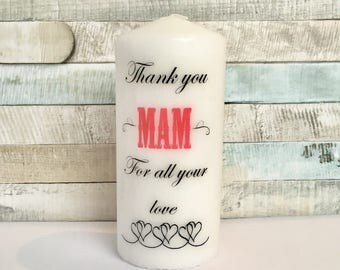 Personalised Mother's Day candle gift, personalised gift, home and decor,