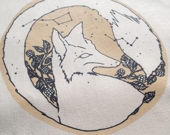 Screen printed Fox Totebag