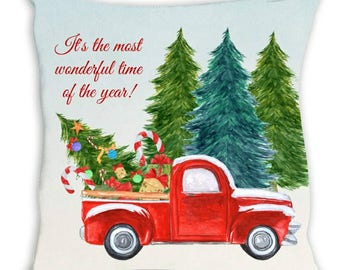 Christmas Truck / Christmas Truck With Tree / Christmas Pillows / Tree With Truck / Holiday Truck / Holiday Pillows / Christmas Tree Truck