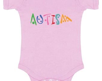 Autism Baby Short Sleeve Bodysuits One Piece  Bodysuit Tops Autistic Support Autism Awareness Puzzle Piece Autistic