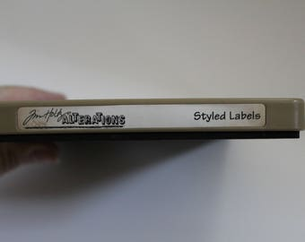 Tim Holtz Alterations Bigz STYLED LABELS Movers and Shapers Die