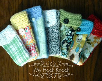 Handmade Glasses/Pencil/Calculator cases (Made with Fabric and yarn)