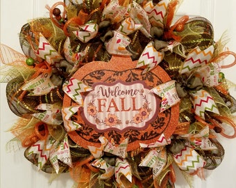Fall Wreath | Harvest Wreath | Thanksgiving Wreath | Thanksgiving Decor | Fall Decor | Housewarming Gift | Autumn Wreath | Farmhouse Style