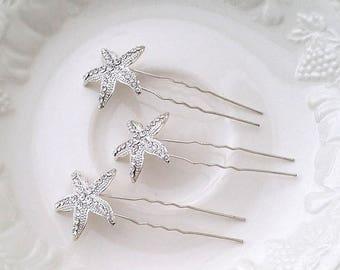 Silver bridal hair accessories - Star