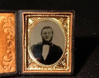 Antique Ambrotype Photo in Case