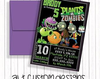 Zombie Invitation Etsy
