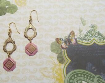 Eastern World Solid Brass Drop Earrings, Drop Earrings, Dangle Earrings, Brass Dangle Earrings