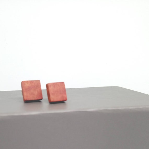 Pink ivory Stud Earrings in Sterling Silver- handcrafted jewellery by Crickhollow Crafts - bespoke by nature
