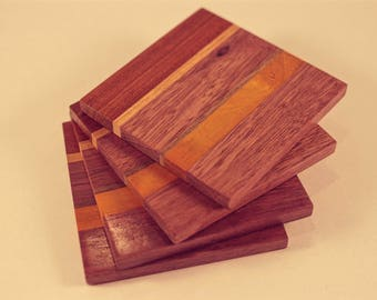 Handmade hardwood coasters