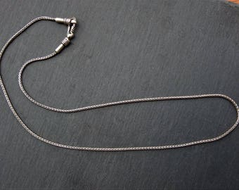 Silver chain. Silver Jewellery. Silver chain. Silver Cord. Silver chain to pass pendants.