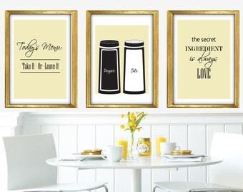 Unique Kitchen Art Print Set