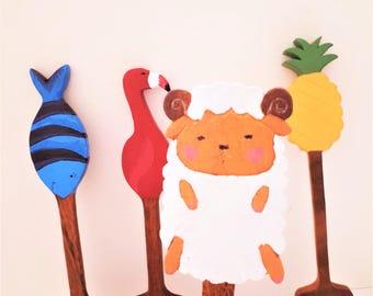 Wooden Spatula / Personalized Spatula / Kitchen Decor / Colourful Spatula / Home Decor