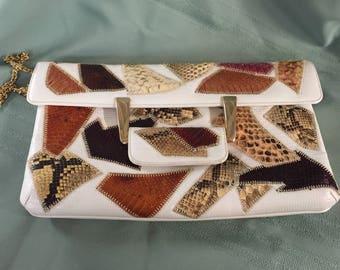 """Vintage """"Caprice"""" Reptile Skin handbag"""